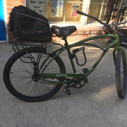 An image of a green bike