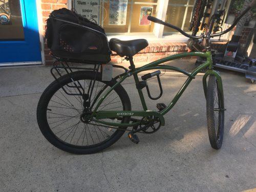 An image of a green bike