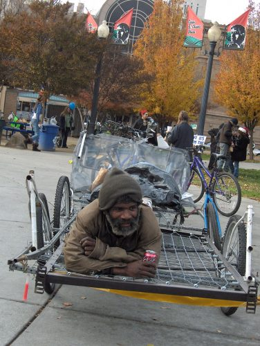 An image of James on Bike Carrier