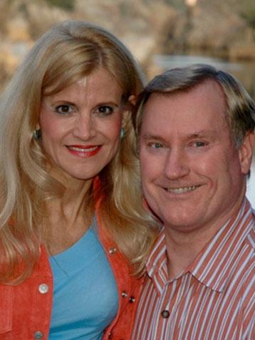 An image of Richard and Sandra smiling