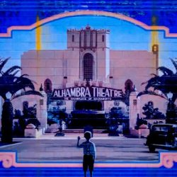 A mural of the old Alhambra Theatre